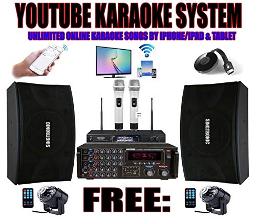 Complete Professional Karaoke - SINGTRONIC Youtube Professional 2000W Complete Karaoke System Special Built in HDMI