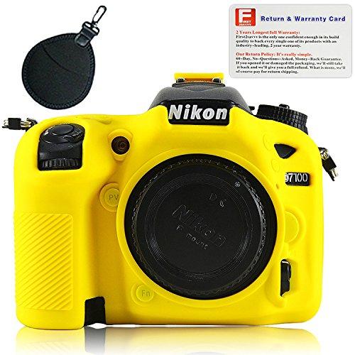 Yellow Rubber Camera Case Bag for Nikon D7100 D7200 - 3