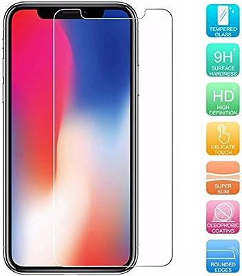 Protectores para Apple iPhone X/iPhone 10 5.8 pulgadas 9H Teléfono ...