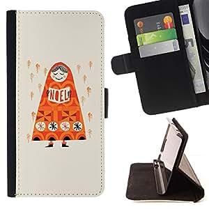 Momo Phone Case / Flip Funda de Cuero Case Cover - Lluvia anaranjado profundo Rusia Dibujo - LG G4 Stylus H540