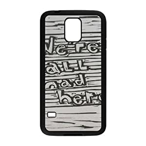 YUAHS(TM) Customized Hard Back Phone Case for SamSung Galaxy S5 I9600 with We're All Mad Here YAS145080