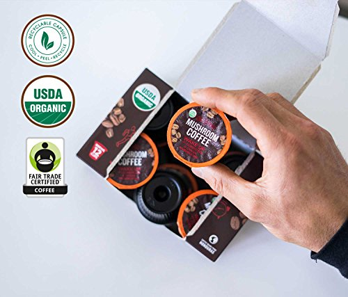 Four Sigmatic Mushroom KCup Coffee Pods With Chaga And