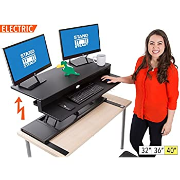 Amazon Com Techtonic Electric Monitor Arm Standing Desk