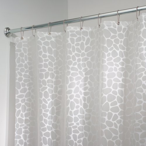 mDesign Pebbles Shower Curtain Odorless