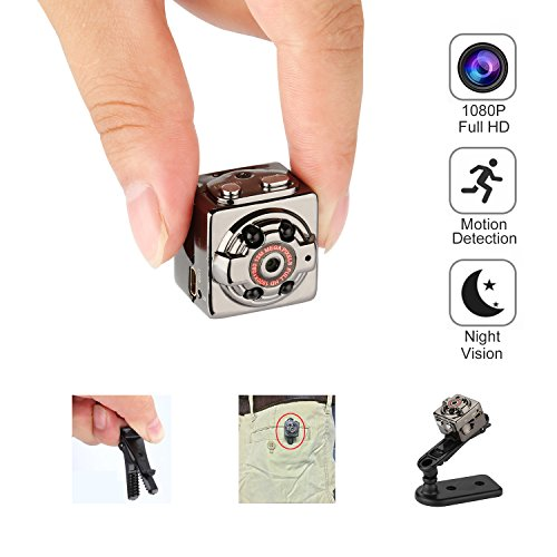 Hidden Spy Mini Camera - Arebi Latest HD 1080P Sports Video Recorder Portable DVR with Motion Detection and Infrared Night Vision