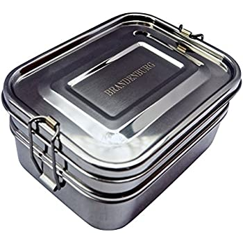 ecolunchbox three in one stainless steel food container set bento boxes kitchen. Black Bedroom Furniture Sets. Home Design Ideas
