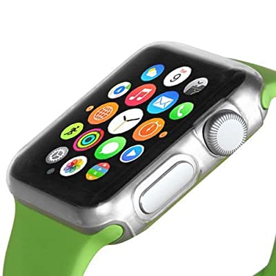 LUVVITT [Super Easy] Built-in Screen Protector Snap-On Case Hard Cover for Apple Watch