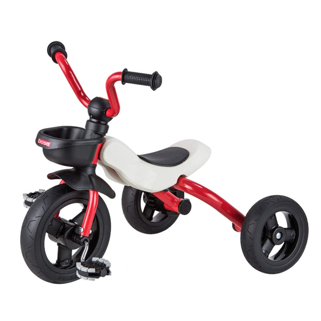 Xing Hua Shop Stroller Toys Children's Tricycle Folding Bike 1-3-5 Years Old Children's Bicycle Walker Home Children's Car with Storage Basket (Color : Red, Size : 464553cm)