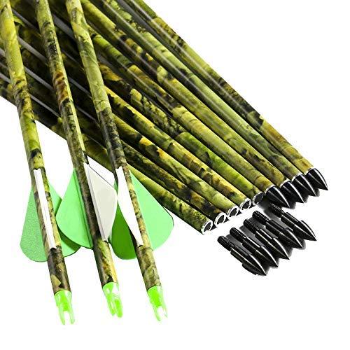 Linkboy Archery Spine 300 400 30 Inch Carbon Arrows 2
