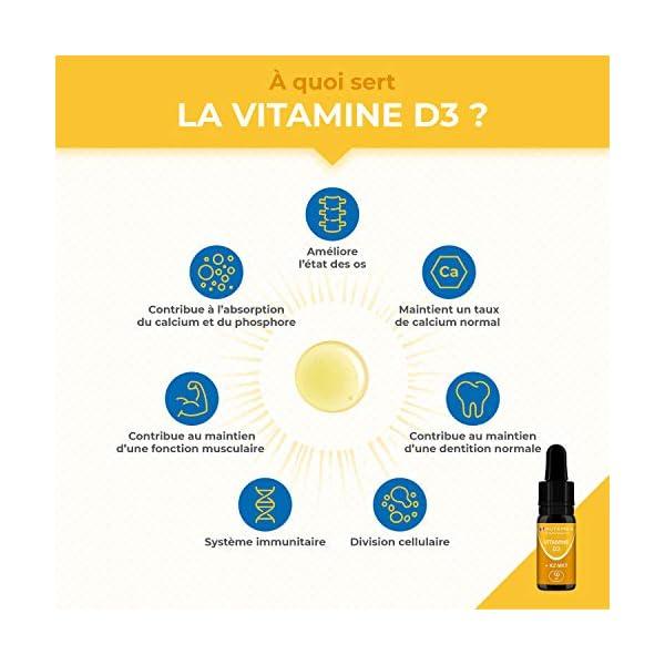 VITAMINES D3 K2 MK7 100% Pure et Vegan – Origine Naturelle avec Huile d'Olive Bio – Renforce l'immunité, Santé des Dents…