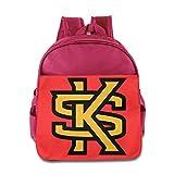 Kennesaw State Owls Logo Kids School Backpack Bag Pink