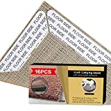 Rug Grippers Premium 16 pcs Anti Curling Rug Gripper, Best Carpet Gripper Renewable Carpet Tape Makes Corners Flat, Non Slip Rug Stopper Keeps Your Rug in Place, Ideal Anti Slip Rug Pad for Your Rugs