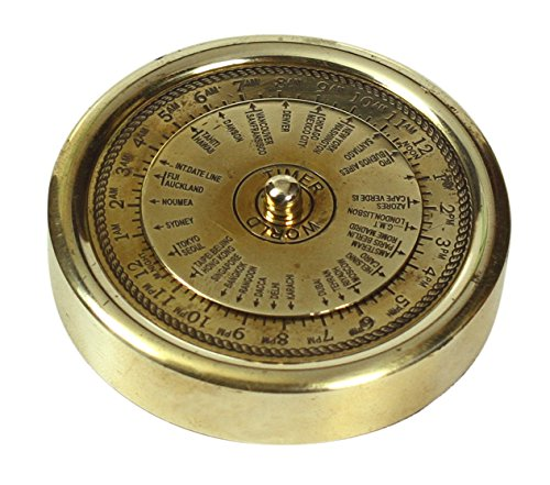 BIG SALE - PAPERWEIGHT Brass World Timer Nautical Device Round 2 Vintage-Look Replica Collectible - Deals of the Day