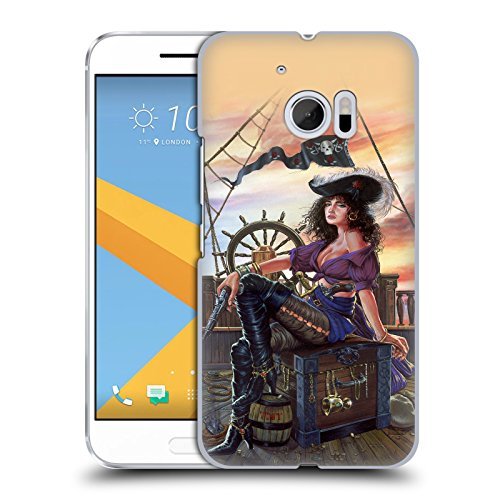 Official Ed Beard Jr Mistress Of The 7 Seas Pirates Medieval Hard Back Case for HTC - Pirate Mistress