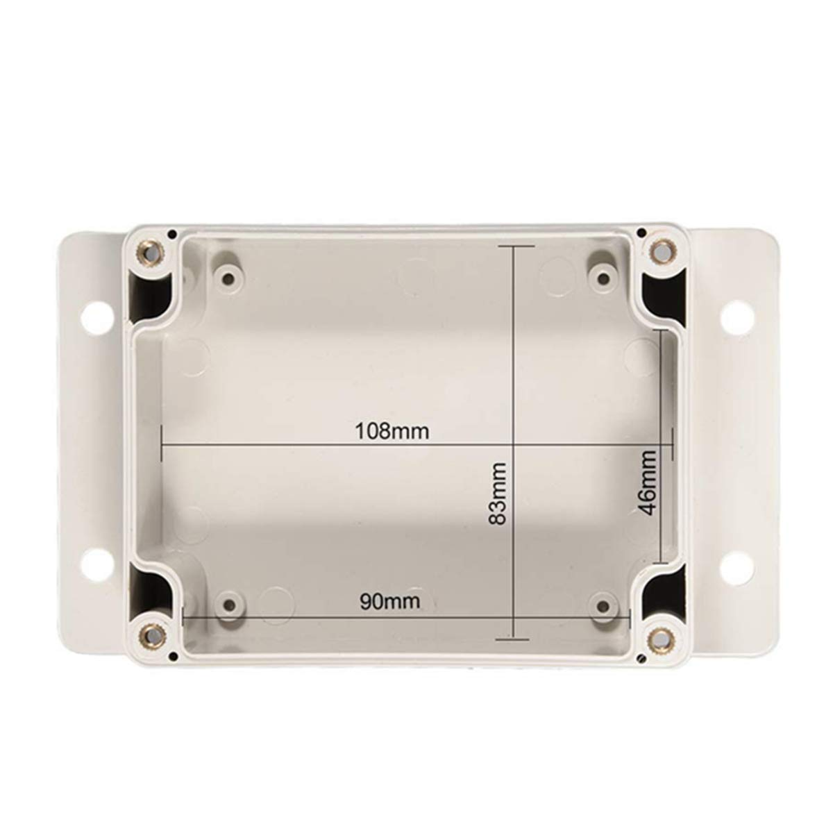 4.5x3.5x2.2 WEIJ 115mmx90mmx56mm ABS Waterproof Junction Box Universal Project Enclosure w PC Transparent Cover