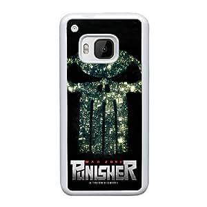 Generic hard plastic Frank Castle Punisher Skull Logo Cell Phone Case for HTC One M9 White ABC8354632