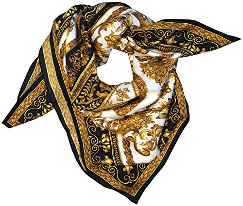 saks-fifth-avenue-black-silk-square-scarf-35-black-gold
