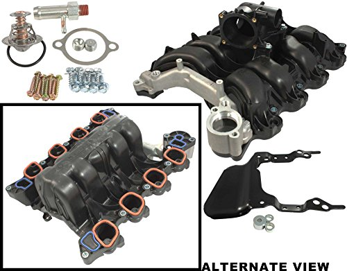 - APDTY 726486 Intake Manifold w/Plastic Throttle Body Housing Upgraded Metal Coolant Passage Fits Ford F150 Lobo Pickup w/4.6L Romeo Engine Ford E150 E250 Van w/4.6L Romeo Engine (8th Digit Of VIN W)