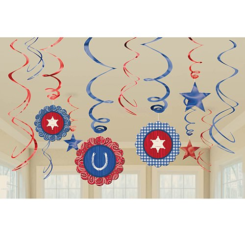 Western Swirls and Danglers Party Decoration (Western Party Decorations)