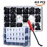 Electop 415 Pcs Car Retainer Clips & Plastic Fasteners Kit - 18 Sizes Auto Push Pin Rivets Set -Door Trim Panel Clips For GM Ford Toyota Honda Chrysler
