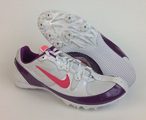 Nike Zoom Rival MD Distancia media pista de Spike deporte zapatos de entrenamiento WHITE/RED PLUM/SOLAR RED