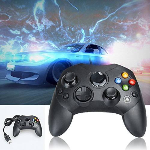 Mekela Classic wired Controller Gamepad Joysticks for Xbox S Type console (1black)