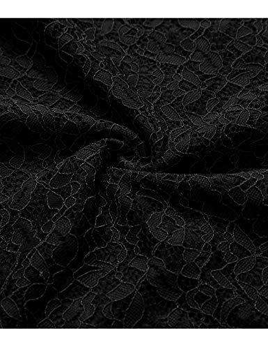 Abito Donna davanti Elegante Low a Pizzo High lungo Bbonlinedress Damigella vestito Nero corto Casual da Pieghe di Cocktail donna Vestito dietro Corte Cerimonia Gonna d'onore Maniche aYqt8tn7w