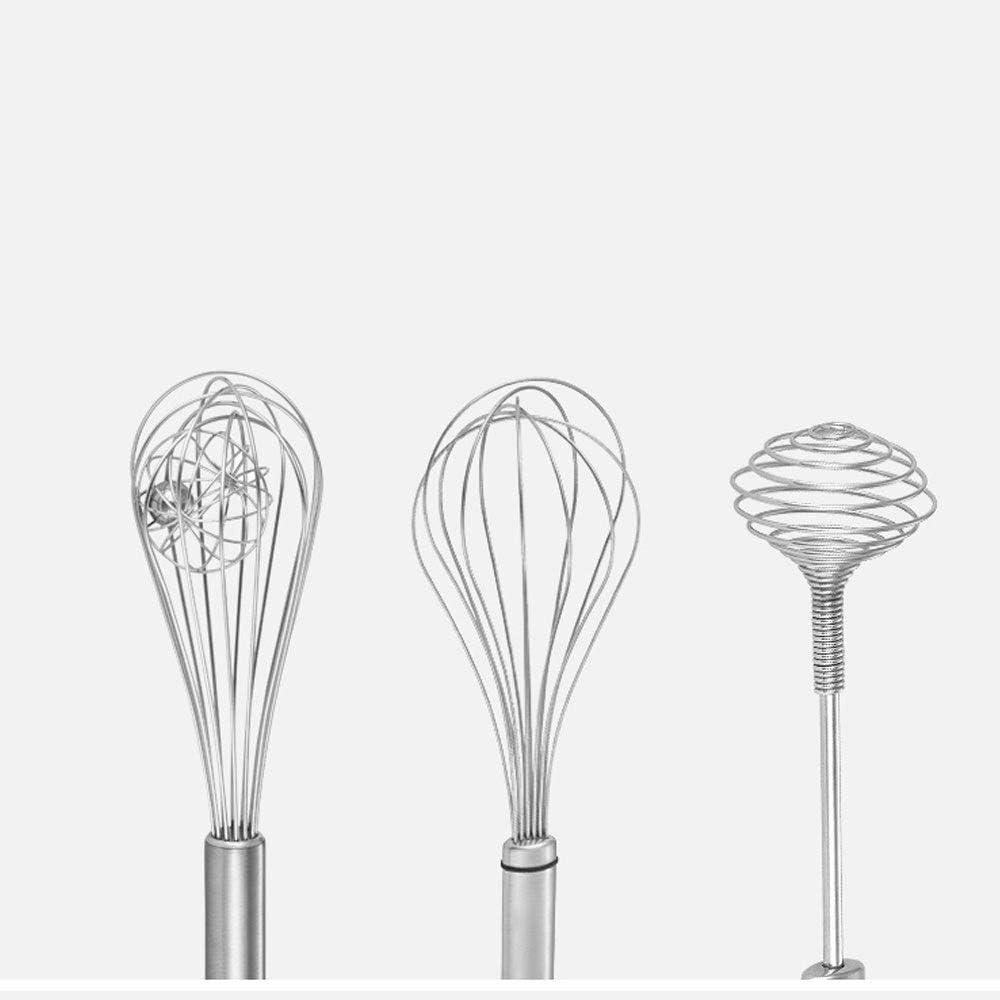 WPCBAA Multifunktions-Edelstahl-Handbuch Ei-Klopfer-Küche-Werkzeuge Handmischer Egg Griff Kochen Schäumer Koch Blender Whisk Draht Ei-Klopfer-Werkzeug (Farbe : A) B