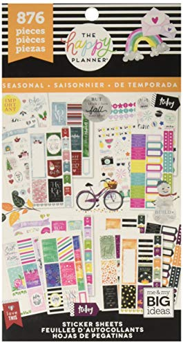 (Me & My Big Ideas The Happy Planner Value Pack Stickers - All in a Season - 876 Stickers, PPSV-69-3048, Multicolor)