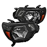 Best OEM headlamp - Toyota Tacoma Black Headlights Headlamps Pickup Factory Replacement Review