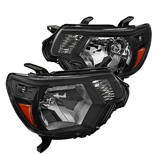 Toyota Tacoma Black Headlights Headlamps Pickup Factory Replacement Left+Right