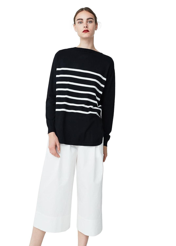 Mango Women's Stripe Pattern Sweater