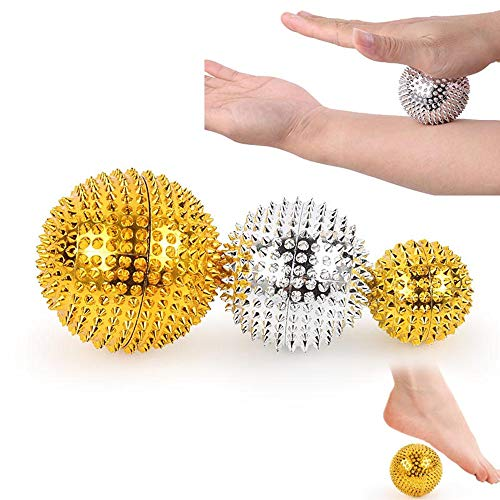 Balls Acupuncture Health - 1Pair Magnetic Hand Palm Acupuncture Ball Pain Relief Massager Acupuncture Acupressure Health Care