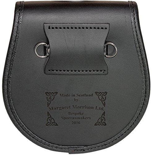 McCorquodale Semi Sporran Fur Plain Leather Flap Scottish Clan Crest by iLuv (Image #2)