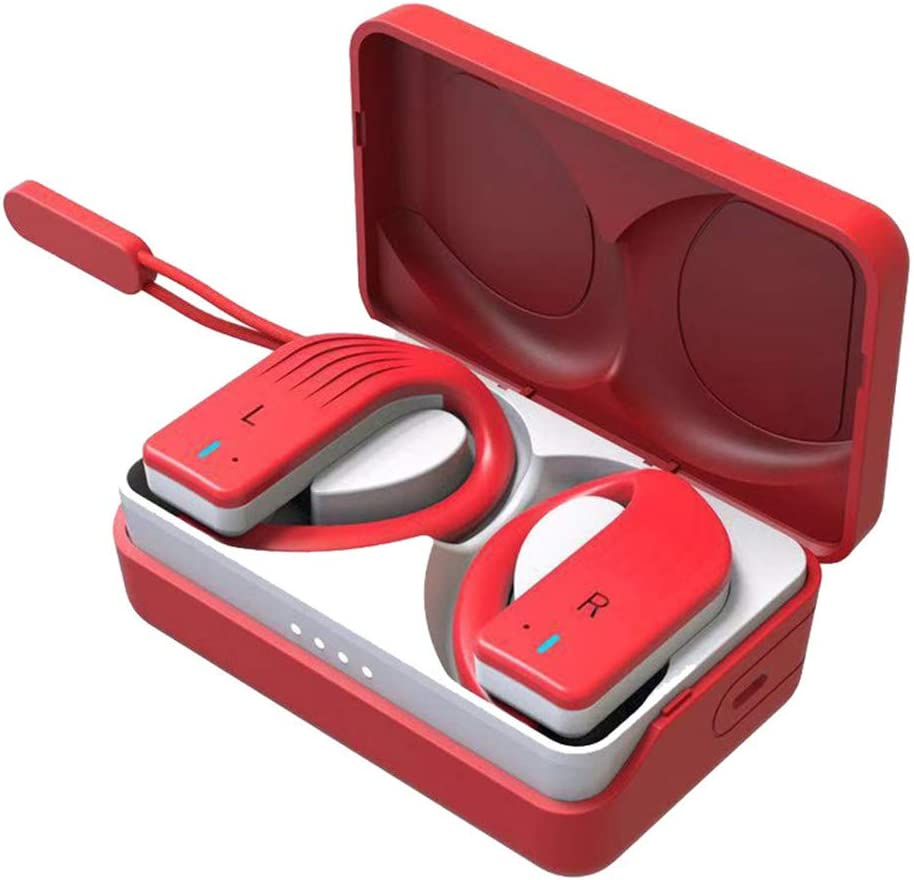 Auriculares Bluetooth, Auriculares Wireless 20H Bajo Profundo Estéreo CVC ,Impermeable in-Ear Sport Auriculares con Digital Display Estuche de Carga 350mAH