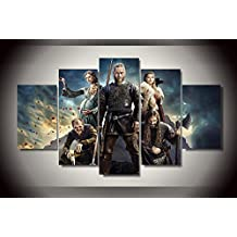 Vikings Series Ragnar Lothbrok print poster canvas 5 pieces