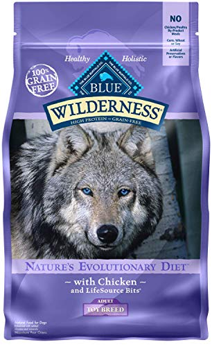 Blue Buffalo Wilderness High Protein Grain Free, Natural Adult Toy Breed Dry Dog Food, Chicken 4-lb Review