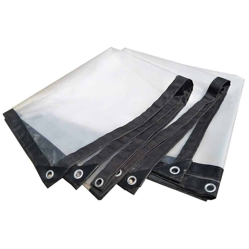 LQQFF Transparent Tarpaulin Thick Tarpaulin Waterproof, White Transparent Plastic Film, Greenhouse Insulated Tarpaulin Dust and rain Cover (Size : 1x1m)