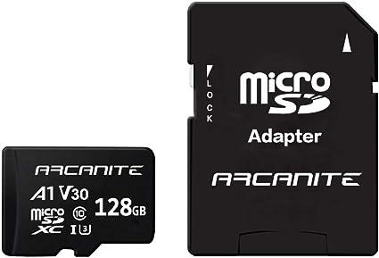 ARCANITE - Tarjeta de memoria microSDXC de 128 GB con adaptador SD ...