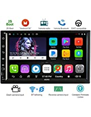 ATOTO 2 DIN A6 Android Car Audio/Video navegación con Doble Bluetooth y Carga rápida -Premio A6Y2721P 2G / 32G Car Radio Multimedia, WiFi/BT Internet Tethering, Soporte 256G SD