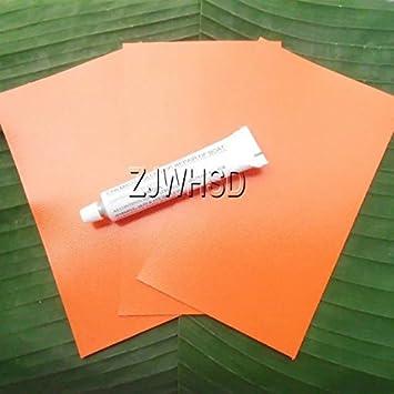 3pcs 12 x 20 cm Naranja PVC parche + pegamento para kayak y ...