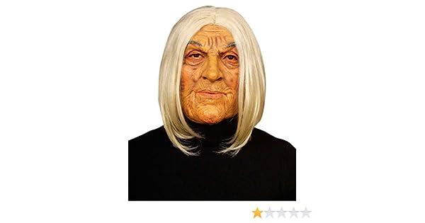 OMA Omamaske blanco-colour carne vieja Máscara Máscara de abuela mujer bruja Halloween carnaval de la máscara: Amazon.es: Juguetes y juegos
