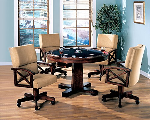 Coaster Home Furnishings Marietta 3-in-1 Dining & Game Table (3 In 1 Poker Table Bumper Pool)
