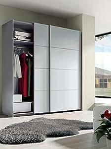 Armario ropero grande color blanco brillo de 2 puertas - Armario ropero puertas correderas ...