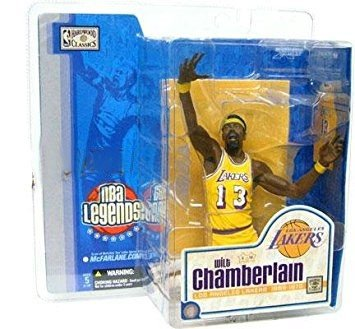 (McFarlane Toys NBA Sports Picks Legends Series 1 Action Figure Wilt Chamberlain (Los Angeles Lakers) Yellow Uniform Variant)