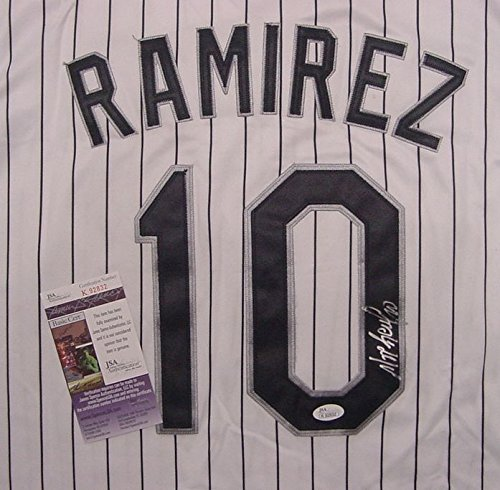 go White Sox Autographed White Pinstripe #10 Jersey JSA COA ()