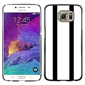 FECELL CITY // Duro Aluminio Pegatina PC Caso decorativo Funda Carcasa de Protección para Samsung Galaxy S6 SM-G920 // Stripes Bowling Minimalist White