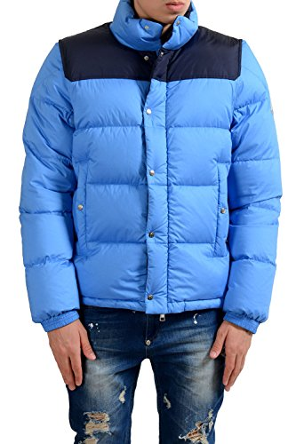 Moncler Men's Blue Full Zip Down Parka Jacket With Detouchable Sleeves Size 1 US - Moncler Blue