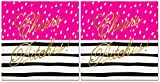 2 Pk - Cheers Bitches Party Napkins - (2 Packages of 20 Ct 3-Ply Napkins)(Hot Pink, Black & Gold)