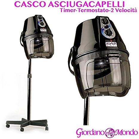 Casco secador profesional pelo Rap Hair Made Italy negro para parrucchire: Amazon.es: Belleza